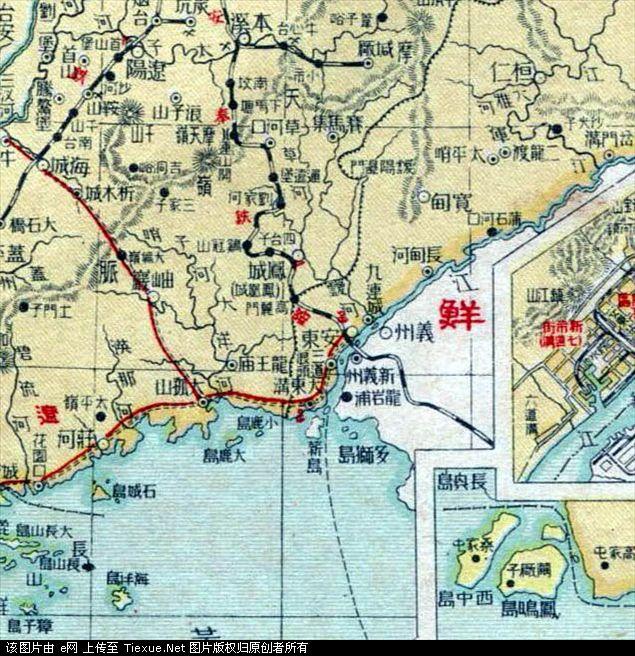 1935年版本  下图,申报馆《中华民国分省新图》第四