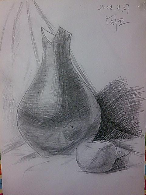 画苹果的素描步骤图片
