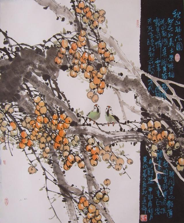 营湿地画派中国花鸟画家 石建勋作品,请大家赏析 中国画吧