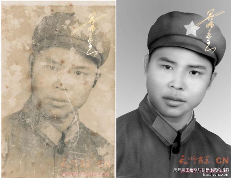 天师画王十八大成都温江社区活动献爱心老照片翻新 摄影