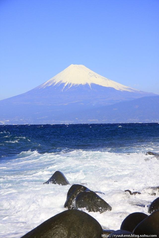 下面都是户田港的了.第一张,来张富士山.