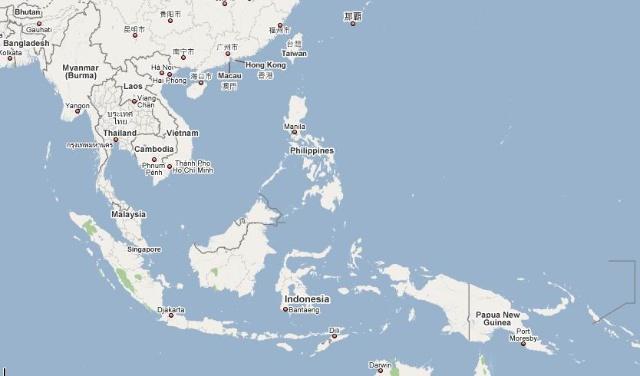 东南亚地图英文版