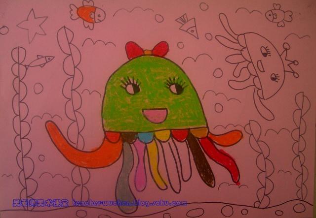 油画棒1-水母-范画