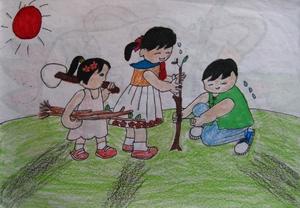 春天来了看图写话门图上有柳树燕子船上一个小明和他的家人在划船有