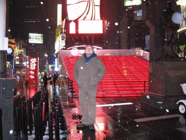 初入纽约时代广场
