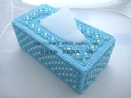 简单易学的串珠纸巾盒(一)