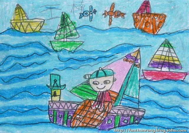 暑假三四周部分优秀儿童画作品-济南市向日葵青少年