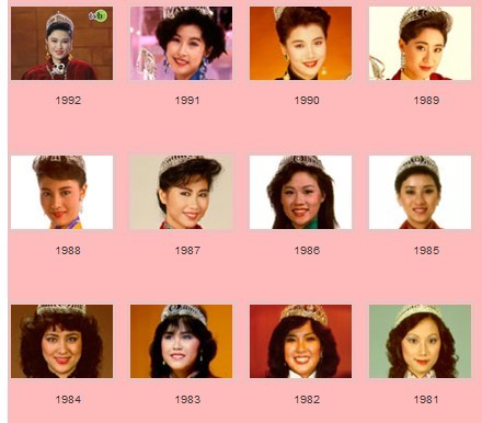 80到90年代香港小姐