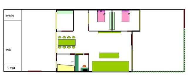 房屋内部结构图,左边为二楼结构图,右边为一楼结构图 绘制软件:word
