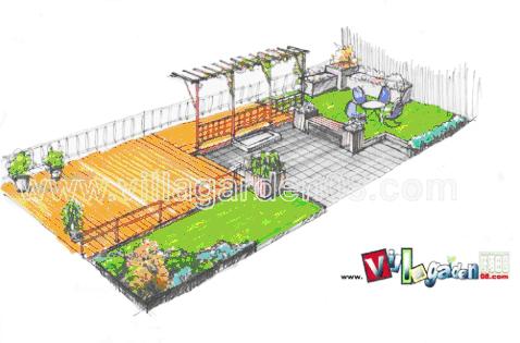 花境景观设计手绘平面图