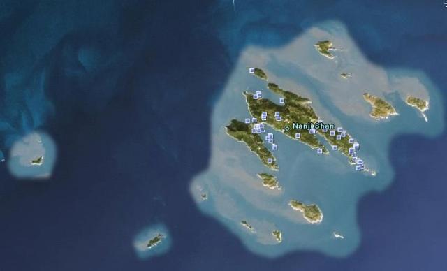 googleearth上的南麂列岛