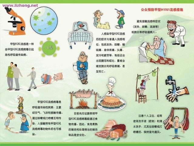 校园预防甲型H1N1猪流感病毒强化卫生工作宣传黑板报