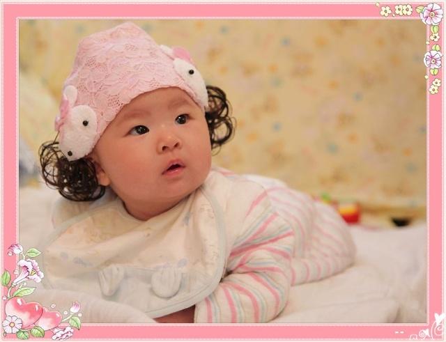 婴儿照片可爱假发