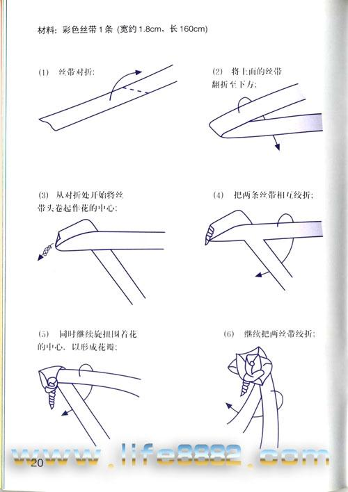 用丝带做玫瑰花 【转】-夏晓何-搜狐博客