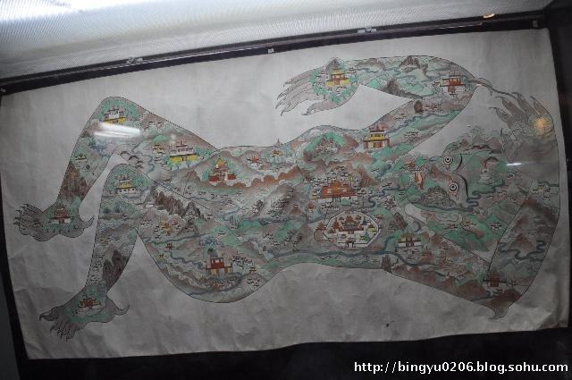 下面的这个手绘图就是拉萨的地图.