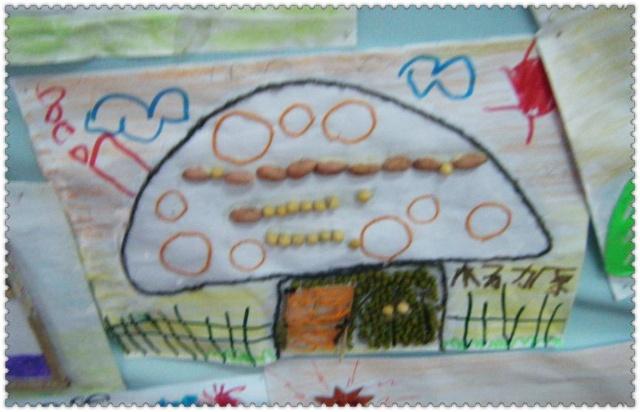 幼儿园手工毛线贴画鱼