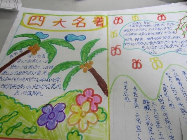 四大名著 三国演义源文件   西游记小报_ 四大名著 手抄报红