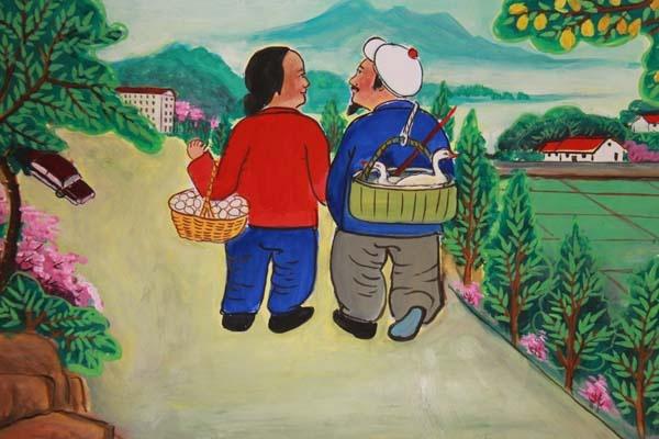 让人感受到了新农村富裕起来的农民兄弟高尚的精神需求,彰显了