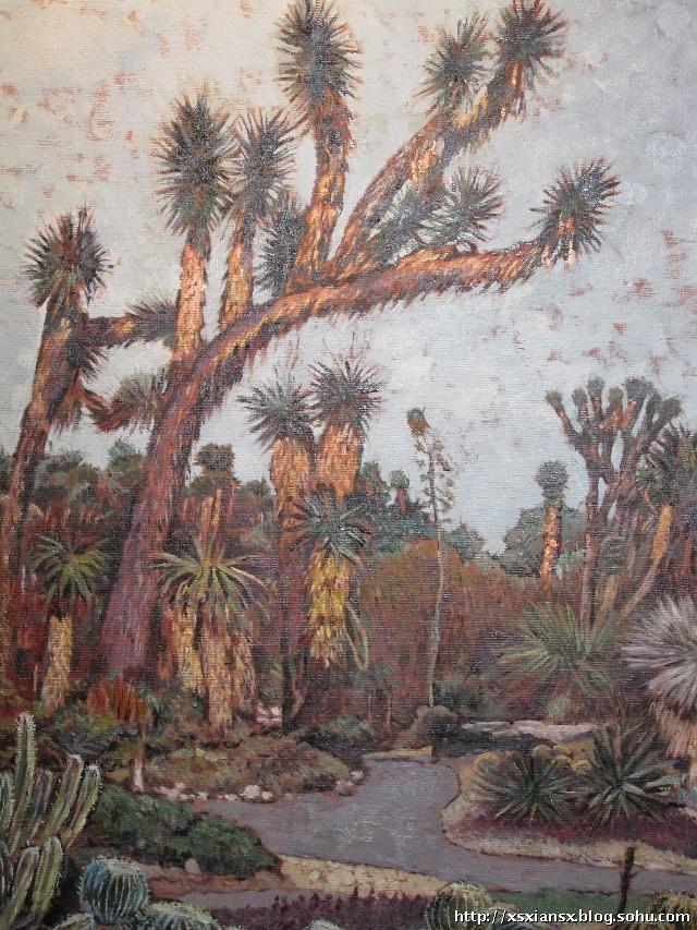 油画中的美国植物园