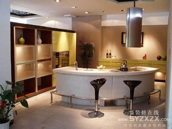 最新开放式厨房吧台装修效果图片大全