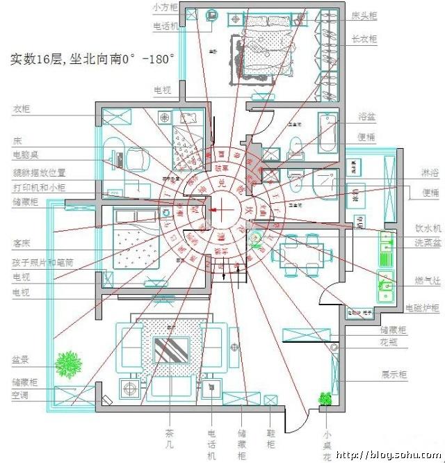 高层住宅风水图解